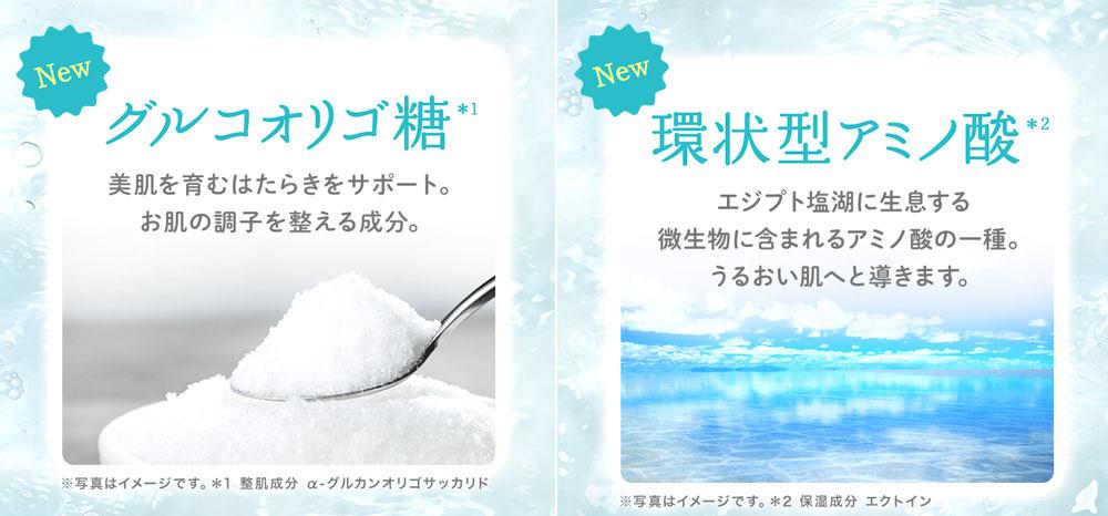 ルルルン・オリゴ糖、環状型アミノ酸配合