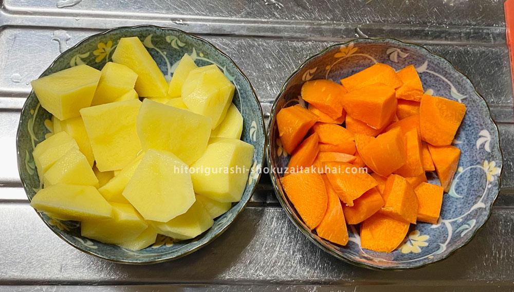 大地を守る会の野菜を使った料理(クリームシチュー)