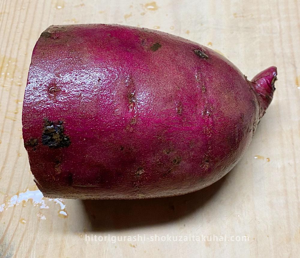 大地を守る会の野菜を使った料理(大学芋)